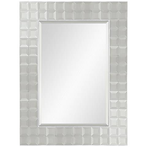 Roslyn glass 38 x 50 wall mirror 24m75 lamps plus for Mirror 50 x 50