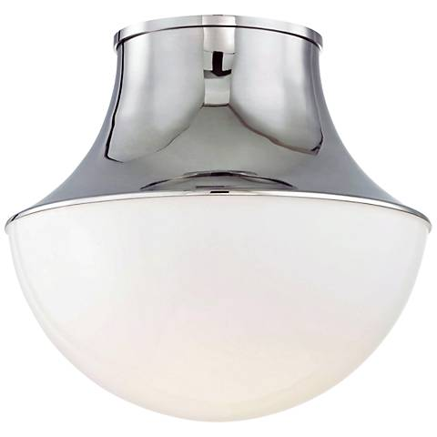 "Hudson Valley Lettie 14 3/4"" Wide Nickel LED Ceiling Light"