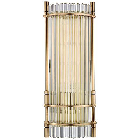 "Hudson Valley Grant 18"" High Aged Brass LED Wall Sconce"