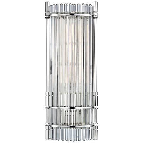 "Hudson Valley Grant 18"" High Polished Nickel LED Wall Sconce"