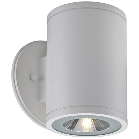 "Big Rox 7 1/4"" High White LED Outdoor Wall Light"