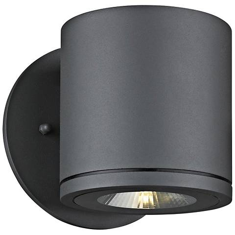 "Big Rox 5 1/4"" High Anthracite LED Outdoor Wall Light"
