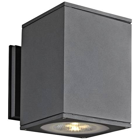 "Big Theo 7 1/4""High Anthracite LED Outdoor Wall Light"