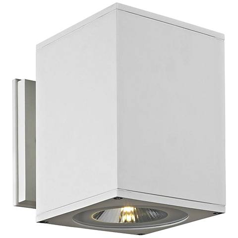 """Big Theo 7 1/4"""" High White LED Outdoor Wall Light"""
