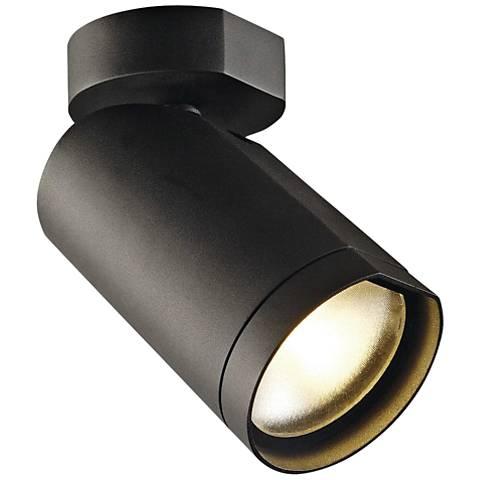 "Bilas Spot 10"" Wide Black LED Ceiling Light"