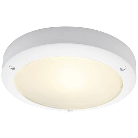 "Bulan 10 3/4"" High White LED Outdoor Wall Light"