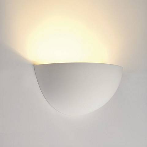 """Plastra 5"""" High White Wall Sconce"""