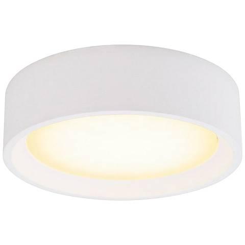 """Plastra 20"""" Wide White LED Ceiling Light"""