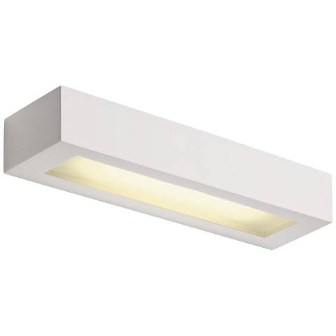 "Plastra 4 1/4"" High White LED Wall Sconce"