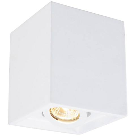 "Plastra 5 1/4"" Wide White Square Ceiling Light"