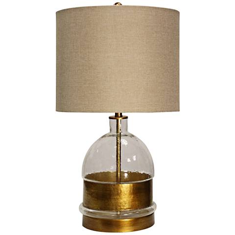 Midfield Clear Glass and Old Gold Table Lamp