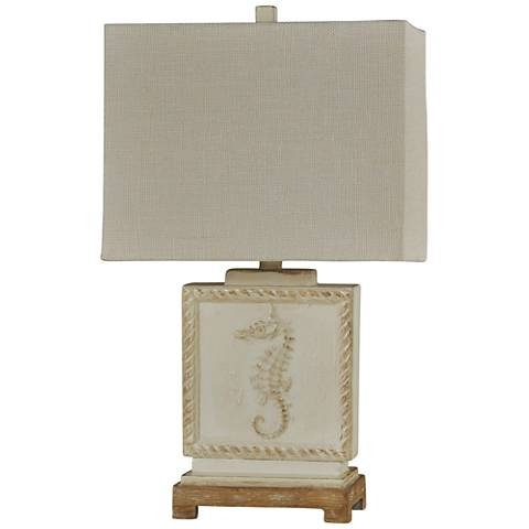 Buster Seahorse White Table Lamp