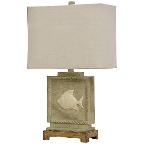 Buster Fish Green Table Lamp