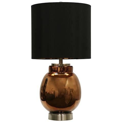 Acworth Copper Glass Table Lamp