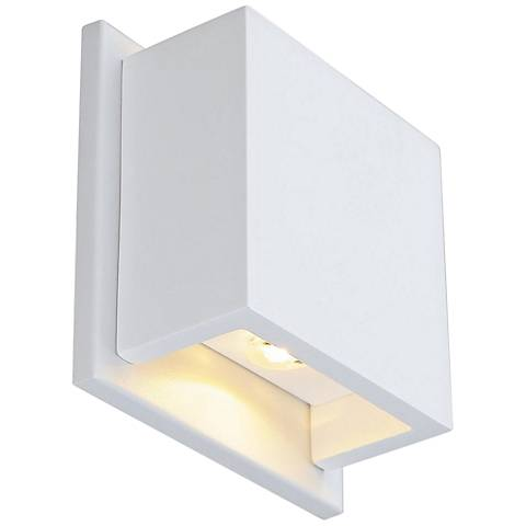 "Plastra WL-2 5"" High White LED Wall Sconce"