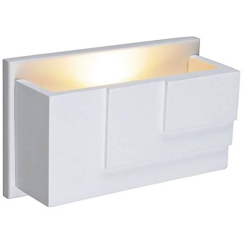 "Plastra WL-5 2 1/2"" High White LED Wall Sconce"