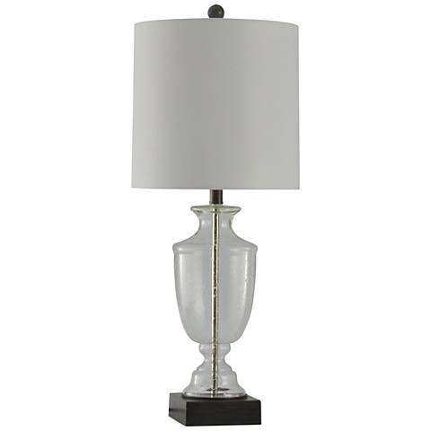 Sickles Seeded Glass Table Lamp with Square Base