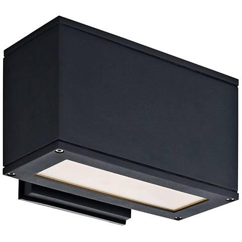 "Quad U 5""High Anthracite LED Outdoor Wall Light"