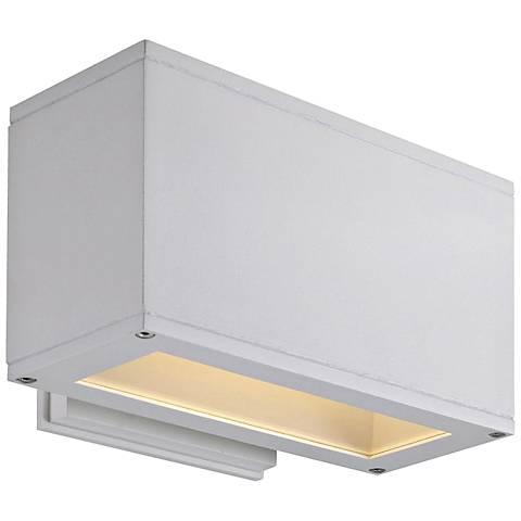 "Quad U 5"" High White LED Outdoor Wall Light"