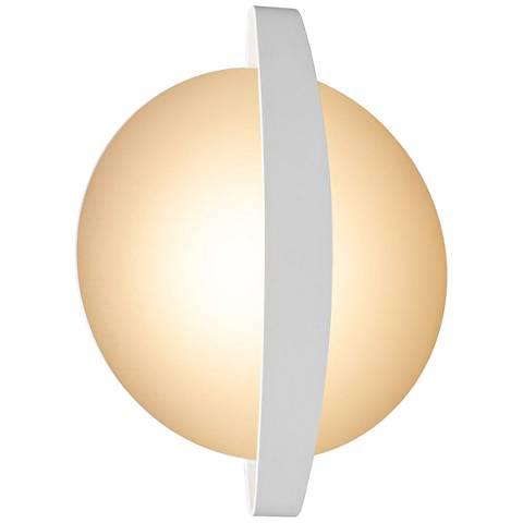 "Round Indi 11"" High White LED Wall Sconce"