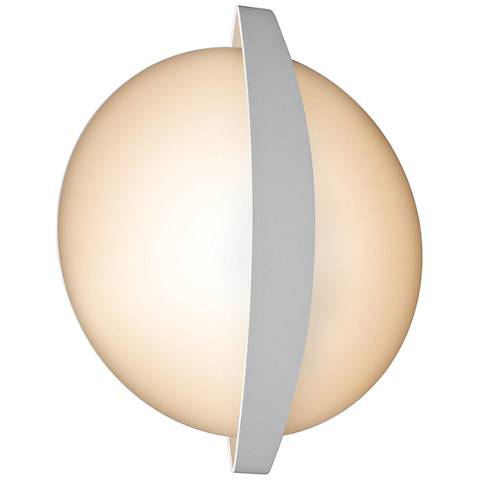 "Round Indi 15 1/4"" High White LED Wall Sconce"