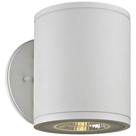 "Rox 7 1/4"" High White LED Outdoor Wall Light"