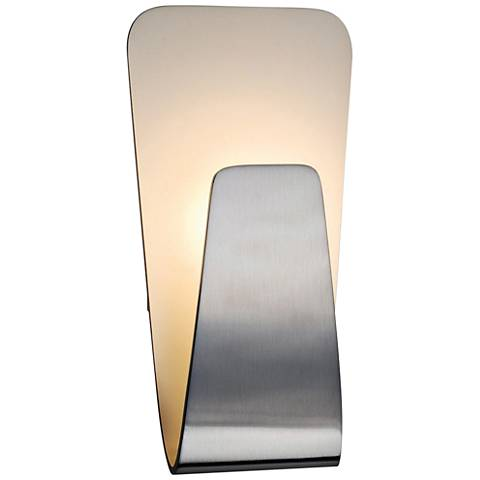 """Scoop 10 1/2"""" High Brushed Aluminum LED Wall Sconce"""