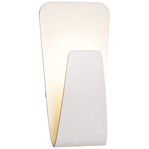 "Scoop 10 1/2"" High White LED Wall Sconce"