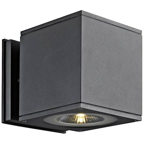 """Theo Down U-M 5 1/2"""" High Anthracite LED Outdoor Wall Light"""