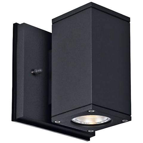 "Theo Down U-S 5 1/2"" High Anthracite LED Outdoor Wall Light"