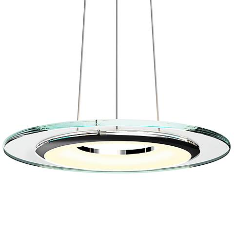 "Sonneman Float 18"" Wide Polished Chrome LED Pendant Light"
