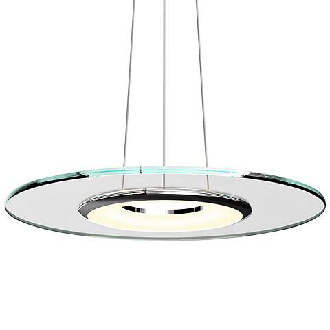 "Sonneman Float 24"" Wide Polished Chrome LED Pendant Light"