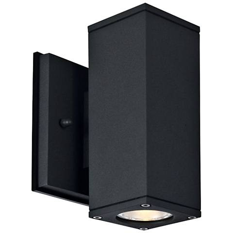 "Theo 7 1/4"" High Anthracite LED Outdoor Wall Light"
