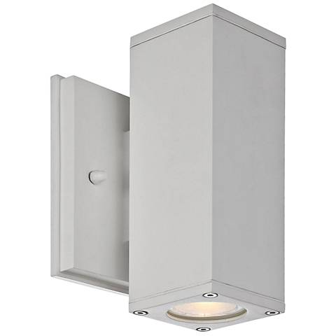 """Theo 7 1/4"""" High White LED Outdoor Wall Light"""