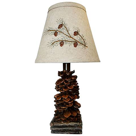 Pinecone Brown Accent Table Lamp