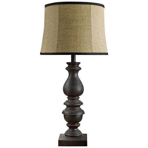 Bishop Antique Black Table Lamp