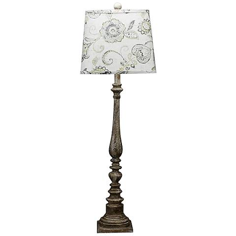 Merriweather Textured Gray w/ Brown Paint Buffet Table Lamp