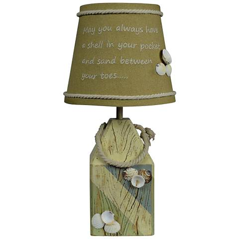 Shell Buoy Blue and Green Accent Table Lamp