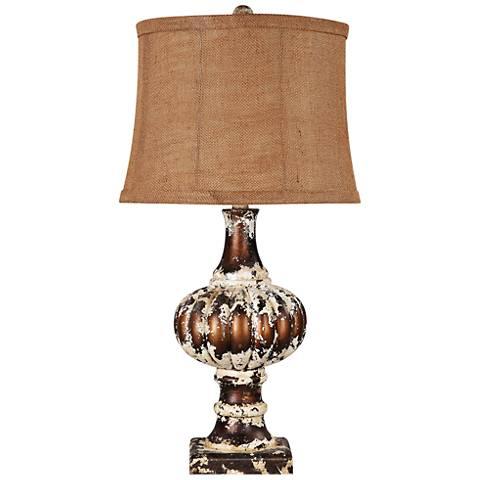 Parma Distressed Brown Table Lamp