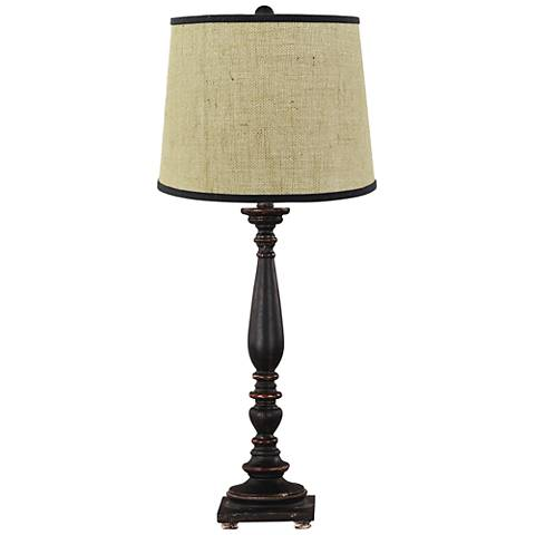 Liberty Distressed Black Table Lamp