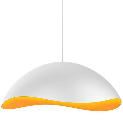 "Sonneman Waveforms 22 1/2""W Satin White LED Pendant Light"