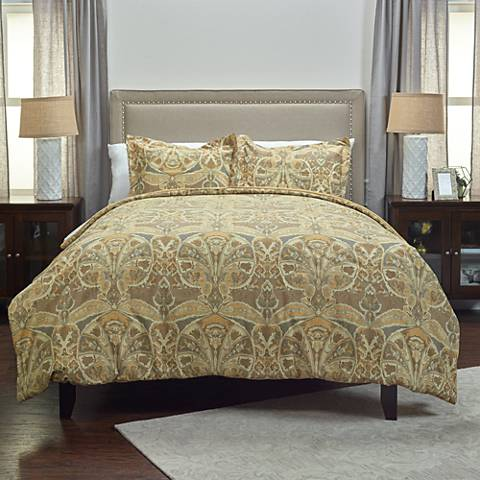 Rosmond Heights 3-Piece Gold Comforter Set