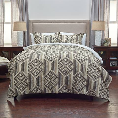 Tacton 2-Piece Gray Comforter Set