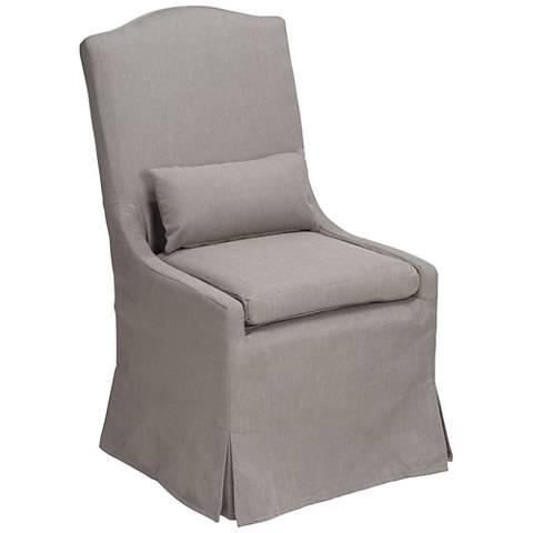 Juliete Peyton Slate Slipcover Dining Chair