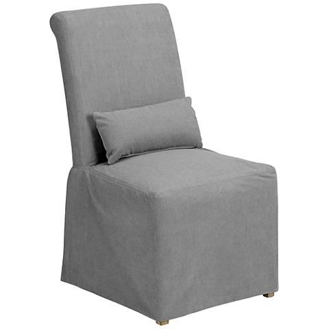 Naomi Petyon Slate Armless Dining Chair
