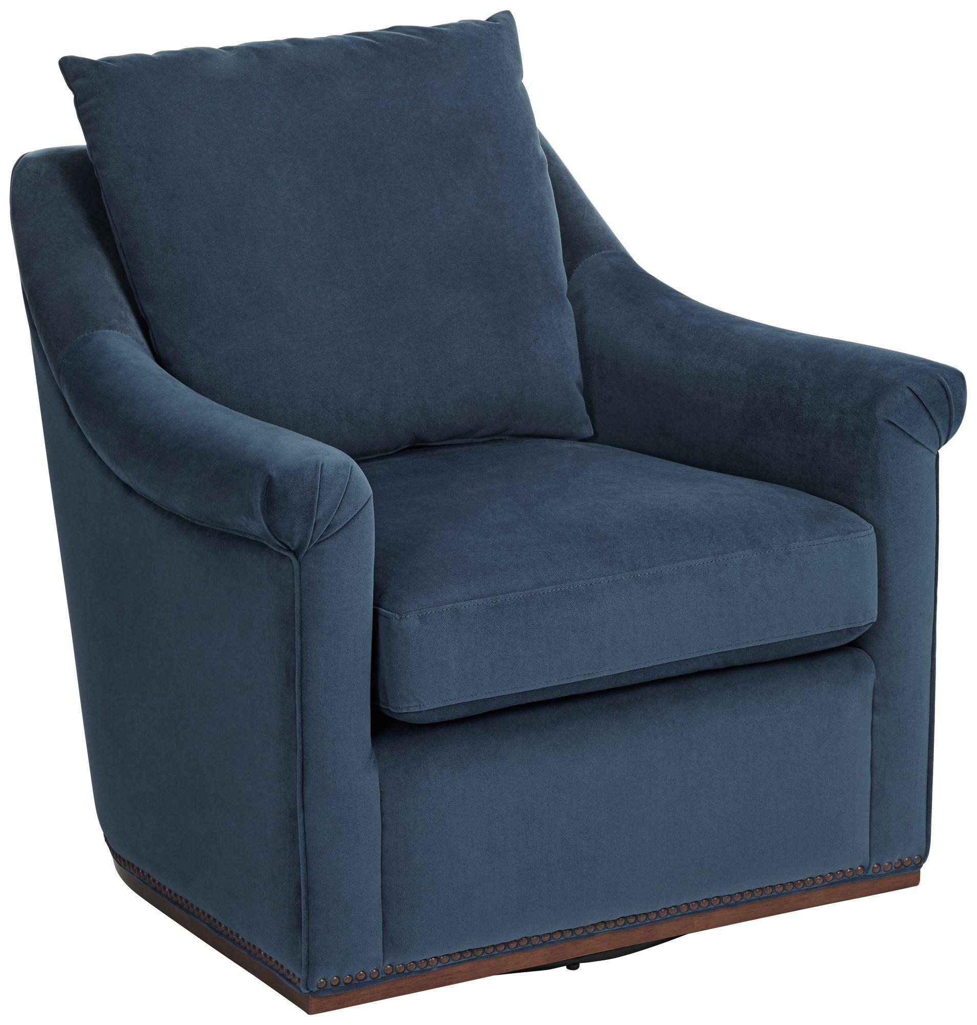 antonio navy swivel accent chair