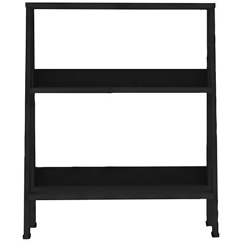 Fargo Black Wood 2-Shelf Ladder Bookshelf