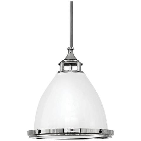 "Hinkley Amelia 13"" Wide Polished White Pendant Light"