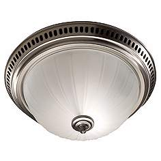 Nutone Satin Nickel Bathroom Exhaust Fan With Light