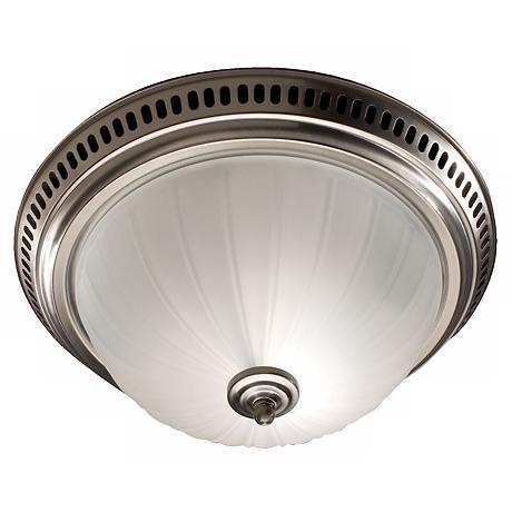 nutone satin nickel bathroom exhaust fan with light 25488 lamps. Black Bedroom Furniture Sets. Home Design Ideas